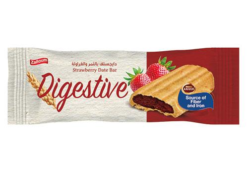 Digestive Date Bar with Strawberry