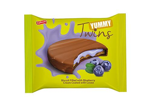 Yummy Twins with Blueberry Cream